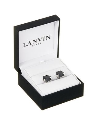 CUFF LINKS WITH FACETED ONYX