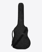 SAINT LAURENT Guitar Holder U Guitar Case in Black Velour and Crystal f