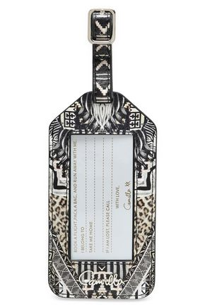CAMILLA Printed leather luggage tag