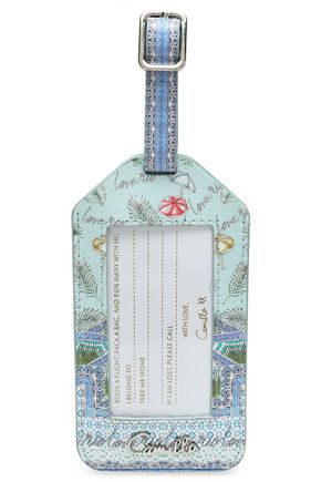 CAMILLA Printed leather luggage tag