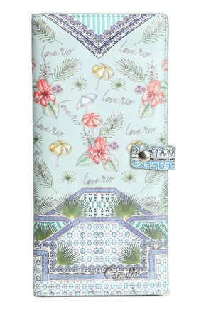 CAMILLA Printed leather passport cover