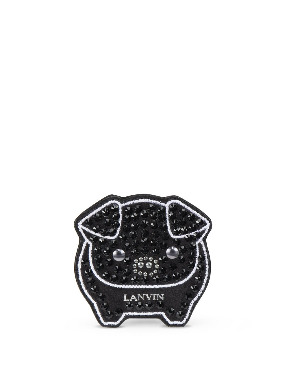 BLACK EMBROIDERED SHOE PATCH - Lanvin