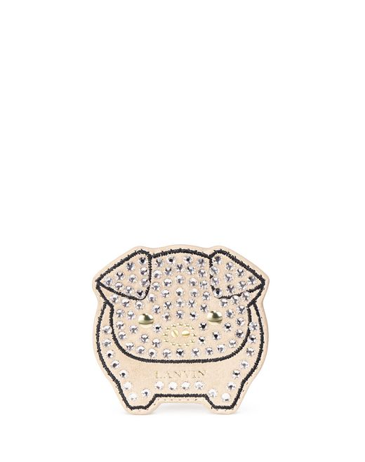 LIGHT GOLD EMBROIDERED SHOE PATCH  - Lanvin