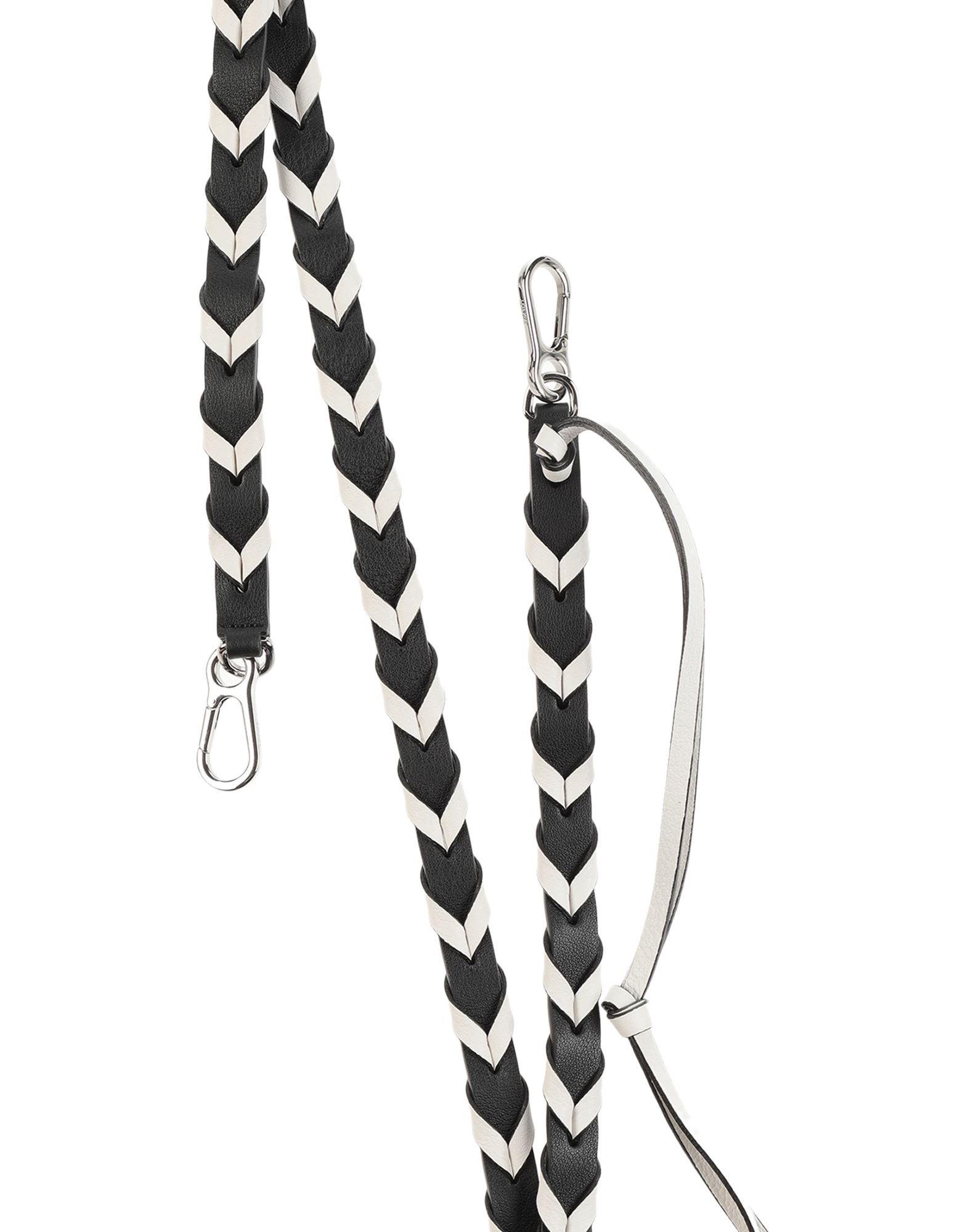 LOEWE Shoulder straps. leather, logo, two-tone, contains non-textile parts of animal origin. Soft Leather