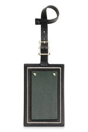 VALENTINO GARAVANI Studded leather luggage tag
