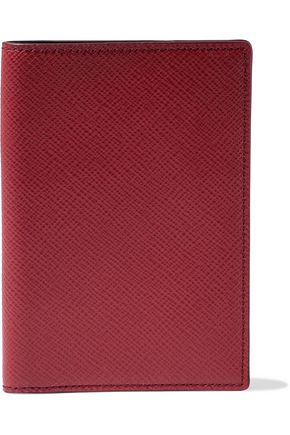 SMYTHSON Panama textured-leather passport cover