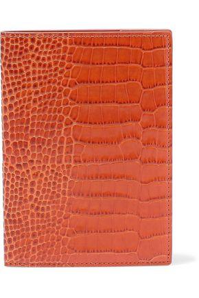 SMYTHSON Mara croc-effect leather passport cover