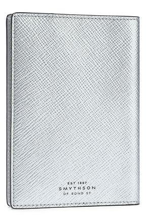 SMYTHSON Metallic textured-leather passport cover