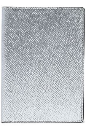 SMYTHSON Metallic textured-leather passport cover