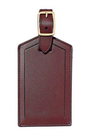 SMYTHSON Bond striped leather luggage tag