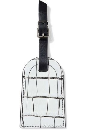 PROENZA SCHOULER Croc-effect leather luggage tag