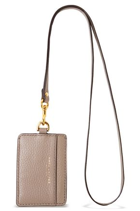 MARC JACOBS Pebbled-leather luggage tag