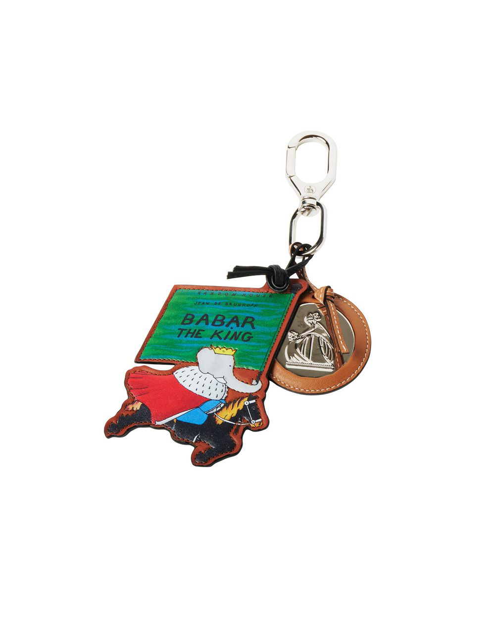 LEATHER BABAR THE KING KEY RING - Lanvin