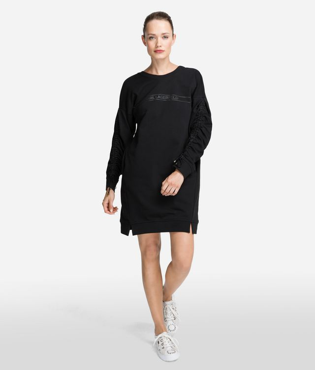 Karl Lagerfeld - Robe sweat-shirt à logo - 1