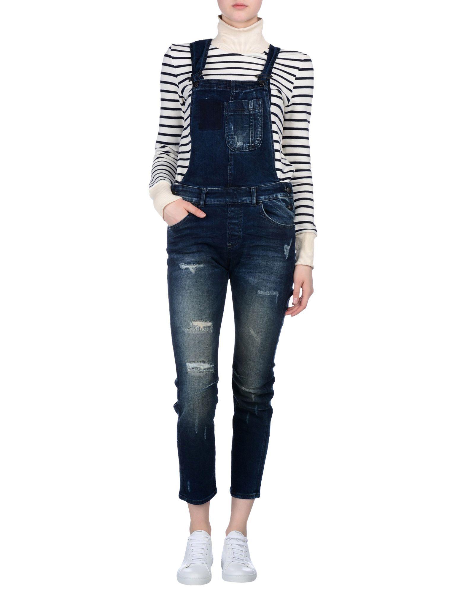 LTB Damen Langer Overall Farbe Blau Größe 5
