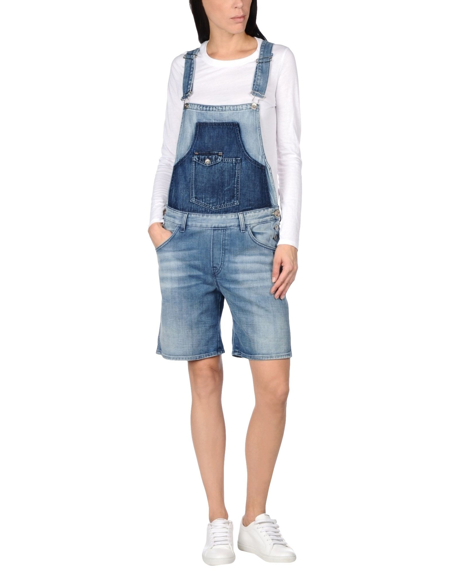 JIJIL LE BLEU Короткий комбинезон jijil le bleu джинсовые брюки