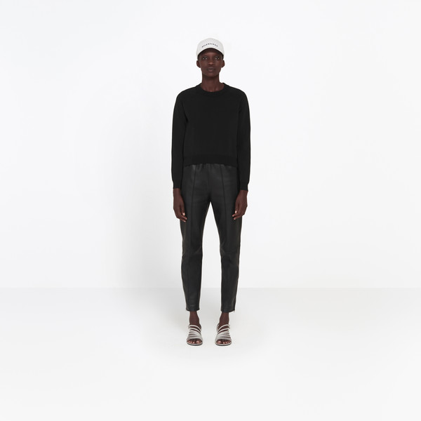 Tracksuit Leather Pants