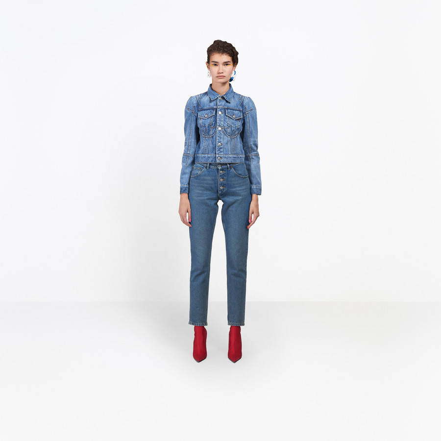 BALENCIAGA Tube Jeans Denim Woman g