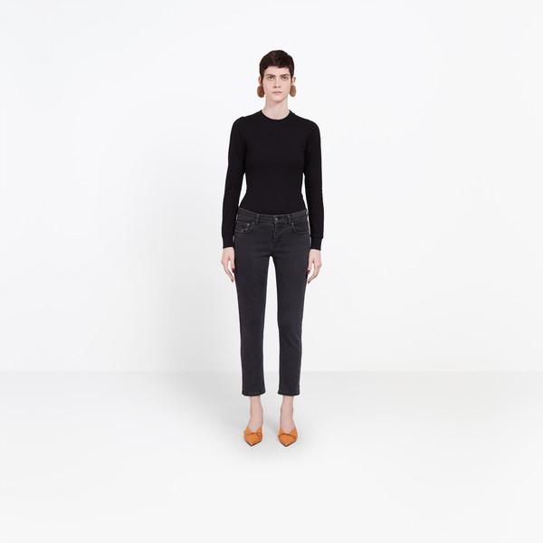 BALENCIAGA Denim Woman Shrunk Jeans g