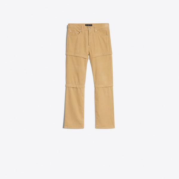Pantaloni in velluto a coste con zip