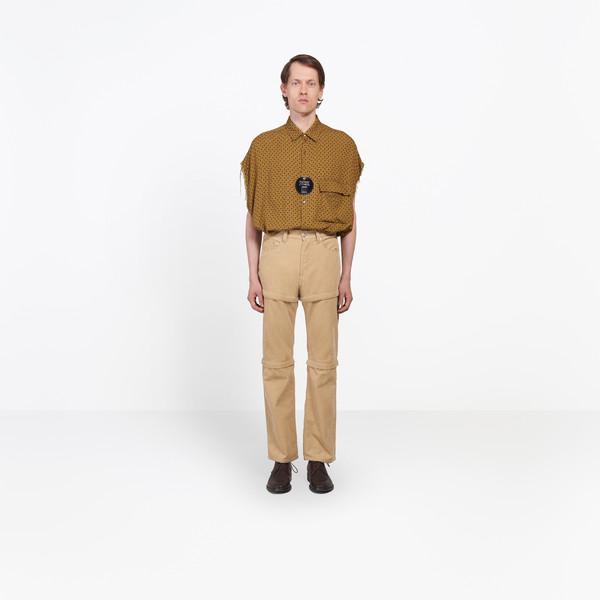 Zipped Corduroy Pants