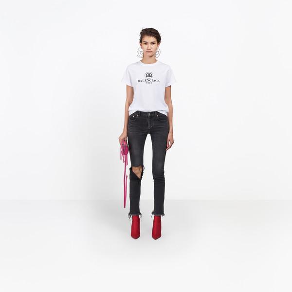 BALENCIAGA Denim D Distressed Skinny Jeans  g