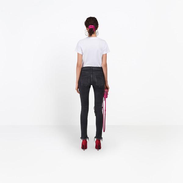 BALENCIAGA Denim D Distressed Skinny Jeans  h
