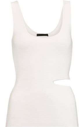 ALEXANDER WANG Cutout stretch-knit tank