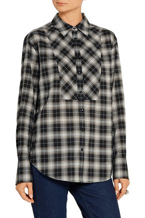 ELIZABETH AND JAMES Rowan plaid woven shirt