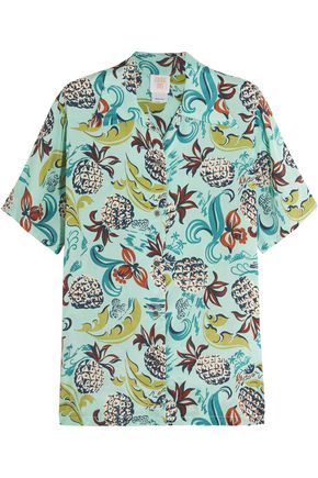 ANNA SUI Printed crepe de chine shirt
