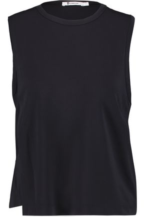 T by ALEXANDER WANG Layered stretch-jersey top
