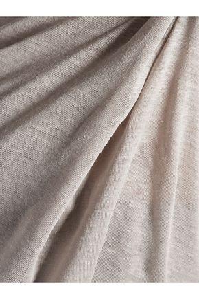T by ALEXANDER WANG Linen and silk-blend top