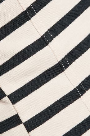 T by ALEXANDER WANG Striped cotton-jersey tank