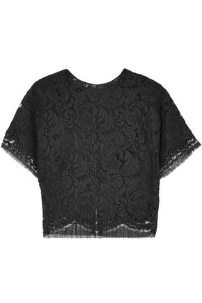 ADAM LIPPES Corded lace top