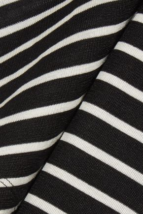 SAINT LAURENT Striped silk-jersey T-shirt