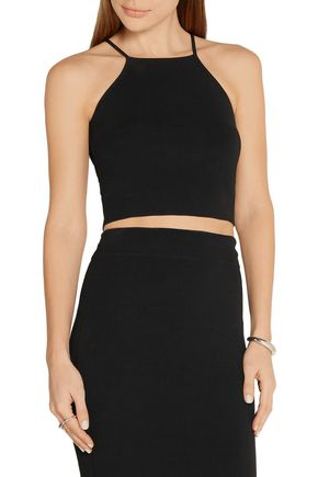 MICHAEL KORS COLLECTION Cropped stretch-knit top