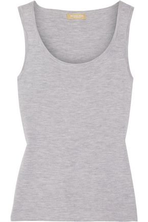 MICHAEL KORS COLLECTION Mélange cashmere tank
