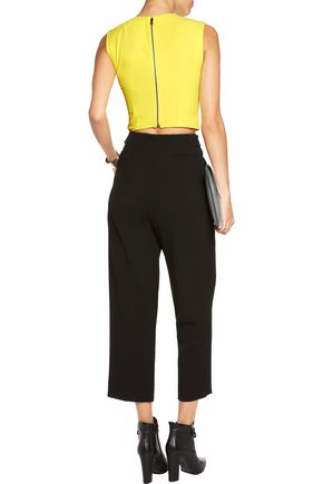 ALICE + OLIVIA Klynn cropped crepe top