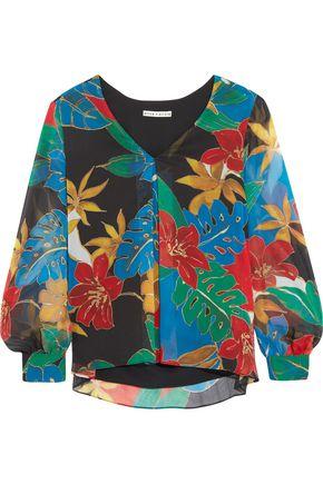 ALICE + OLIVIA Deandra printed crepe blouse