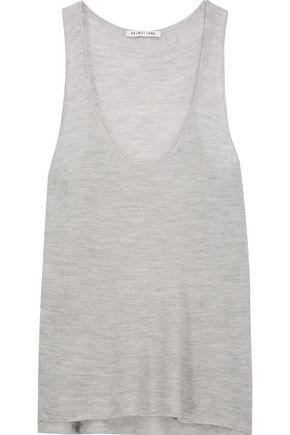 HELMUT LANG Open-knit cashmere tank
