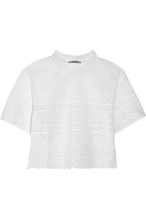 GOEN.J Broderie anglaise cotton top