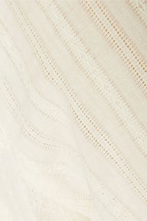 CHELSEA FLOWER Lace and crochet-trimmed cotton-gauze top