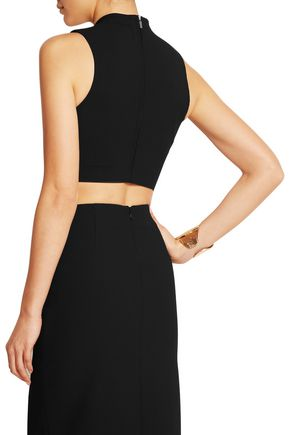 ELIZABETH AND JAMES Avita cropped stretch-jersey top