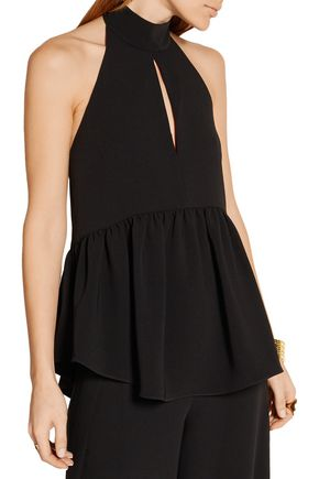 ELIZABETH AND JAMES Perth crepe halterneck top