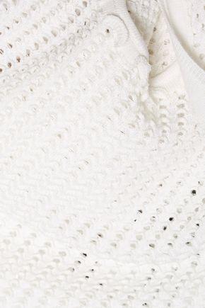 3.1 PHILLIP LIM Open-knit metallic wool-blend tank