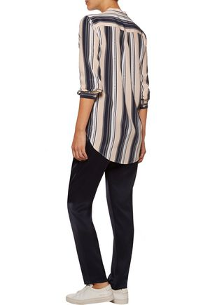 EQUIPMENT Henri printed washed-silk blouse