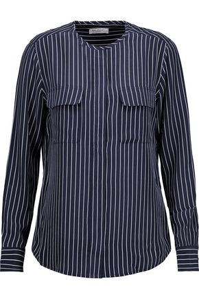 EQUIPMENT Lynn striped washed-silk shirt