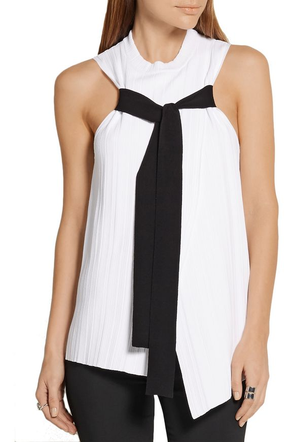 Wrap-effect ribbed-knit top | PROENZA SCHOULER | Sale up to 70% off | THE  OUTNET