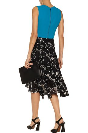 ALICE + OLIVIA Lyndsey cropped crepe top