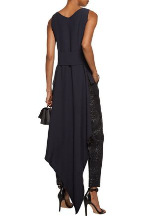 ANTONIO BERARDI Draped asymmetric crepe top